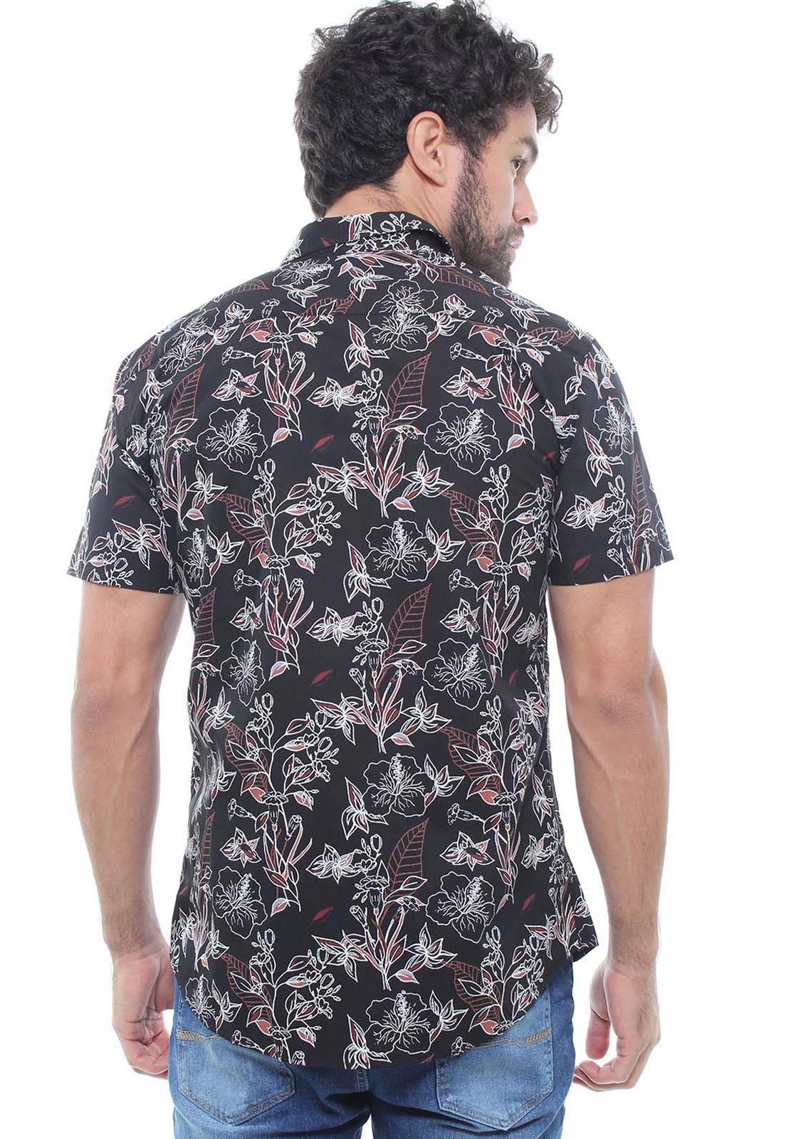 Camisa Estampada Masculina Manga Curta Crocker -  47935  - CROCKER JEANS