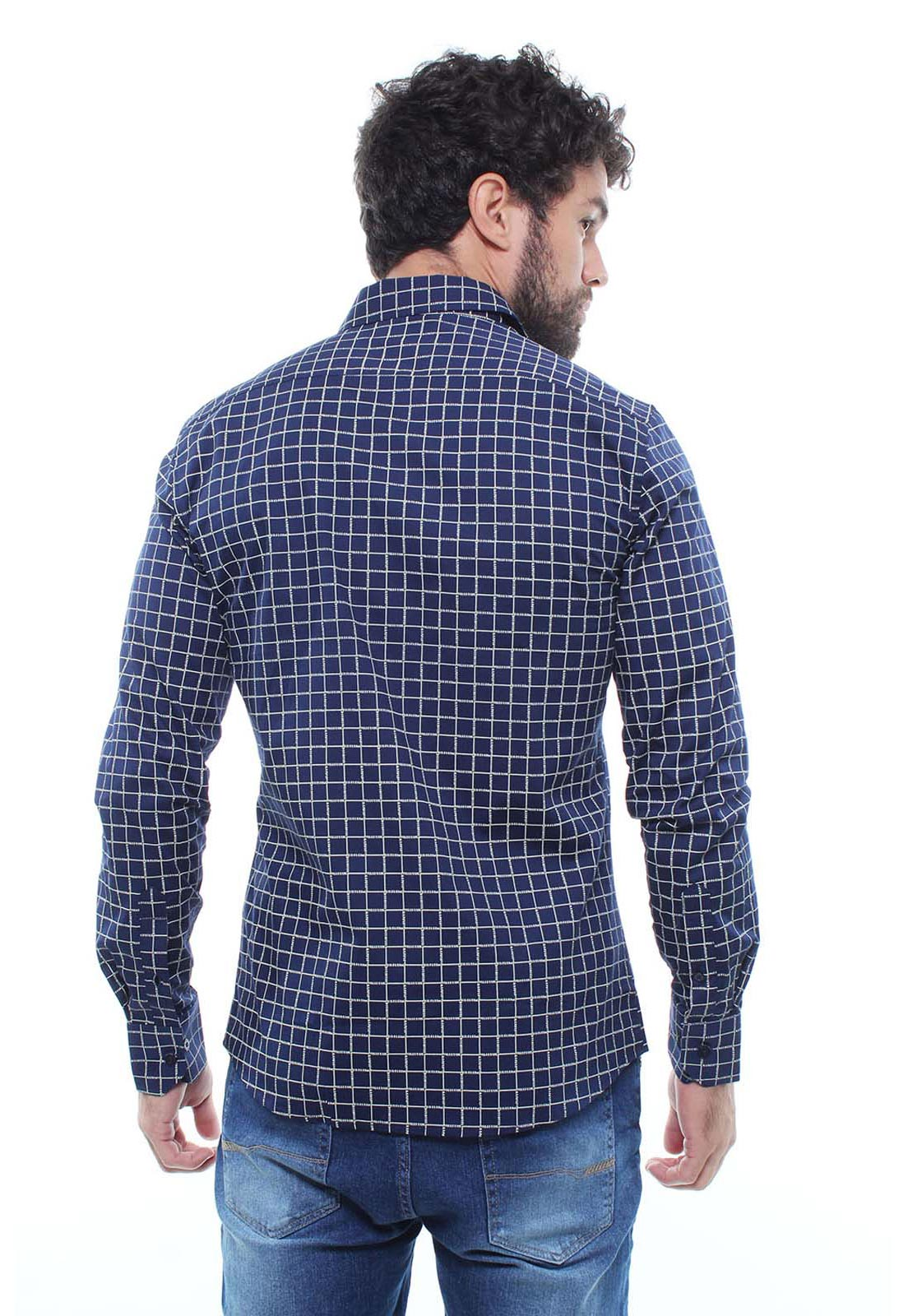 Camisa Estampada Masculina Manga Longa Crocker - 47162  - CROCKER JEANS