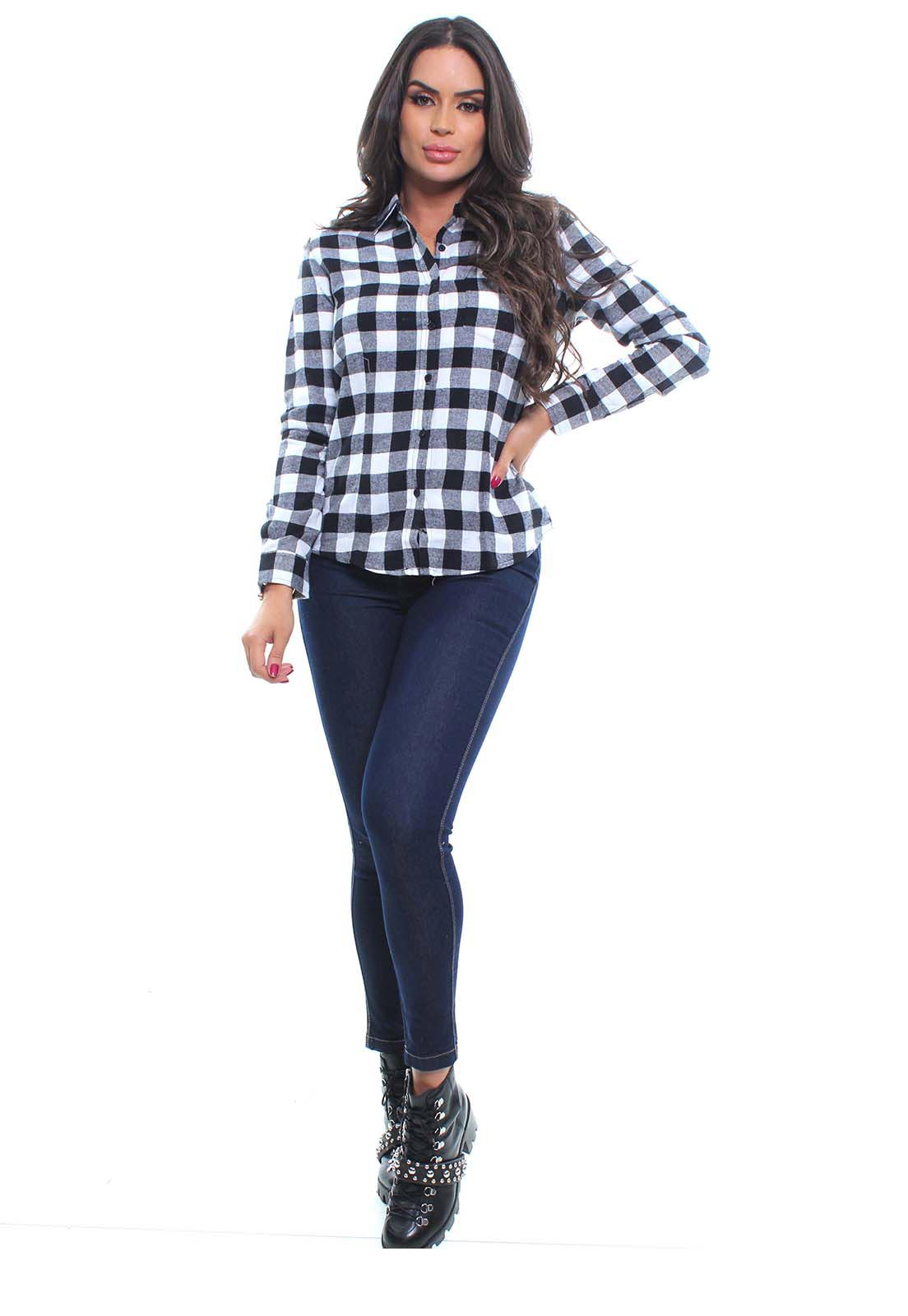Camisa Feminina Flanelada Manga Longa Crocker - 46891  - CROCKER JEANS