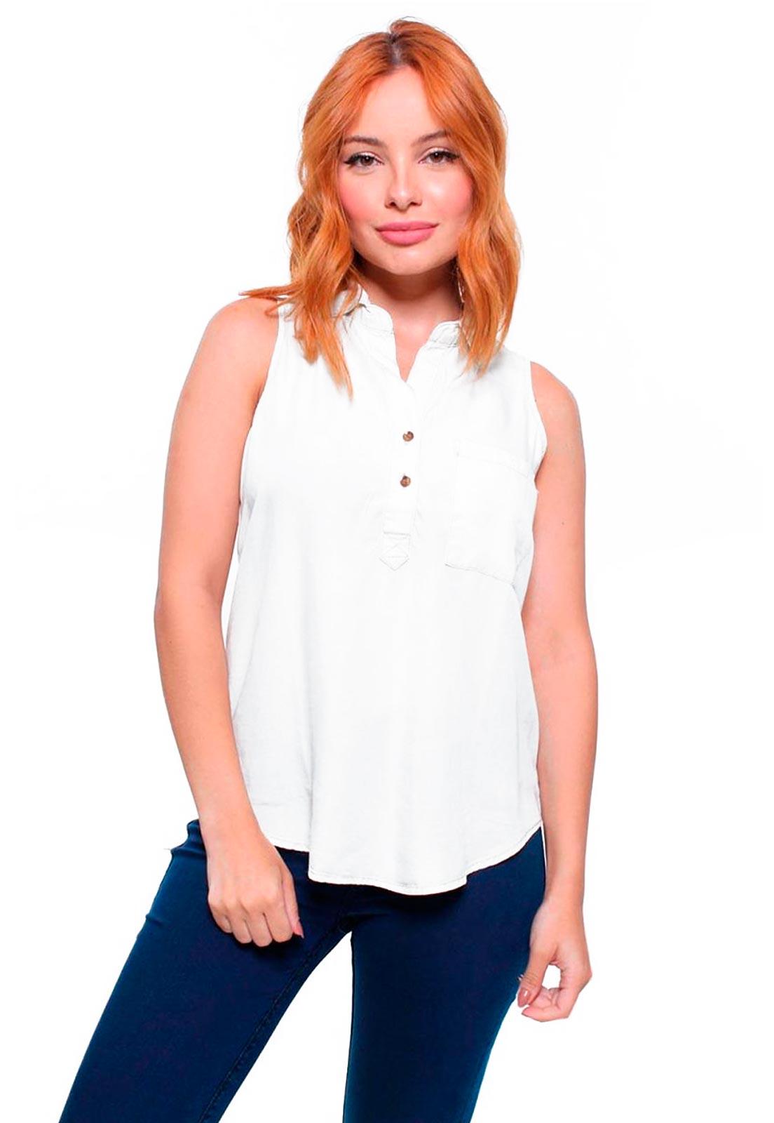 Camisa Feminina Jeans Sem Mangas Crocker - 45754  - CROCKER JEANS