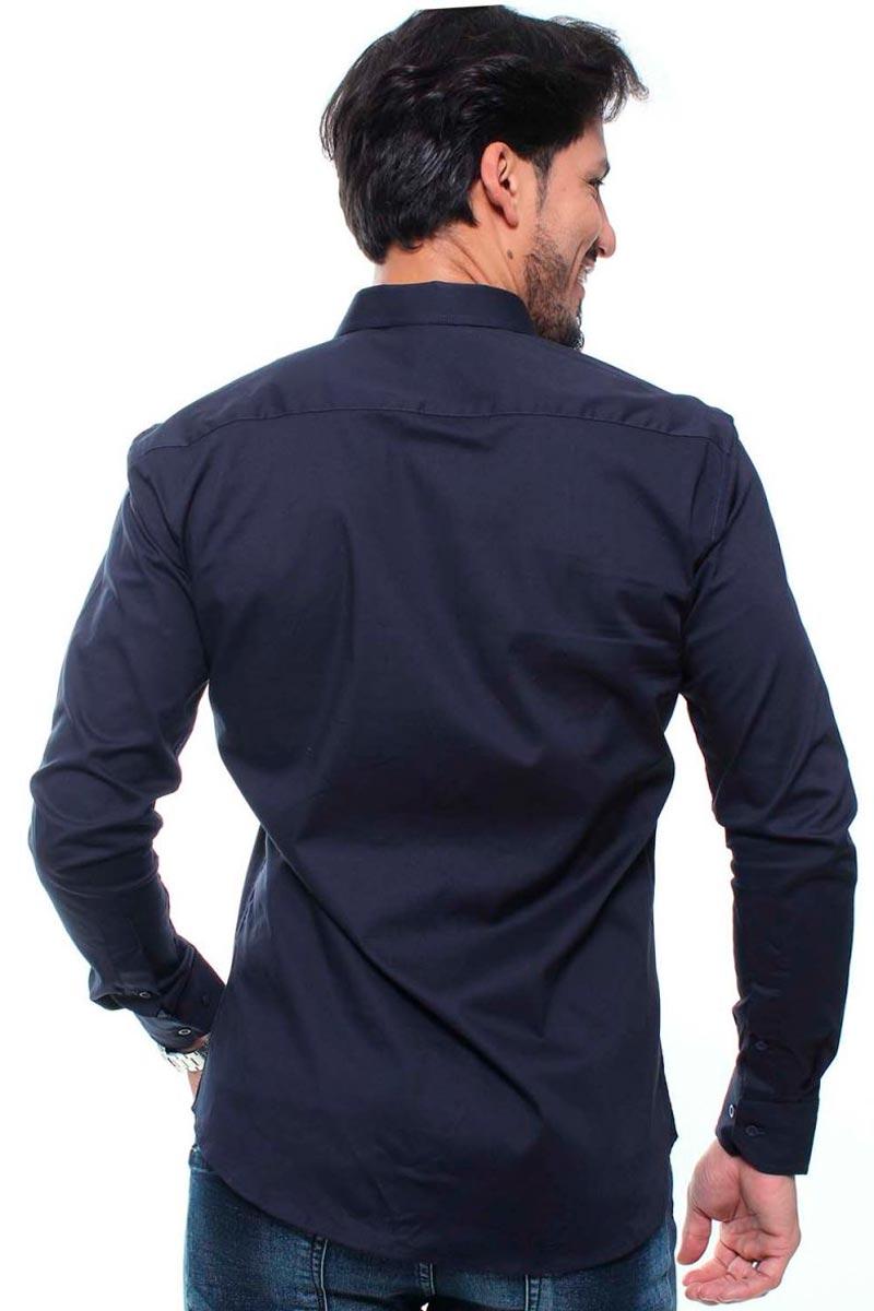 Camisa Masculina Fit Manga Longa Lisa Crocker - 47705  - CROCKER JEANS