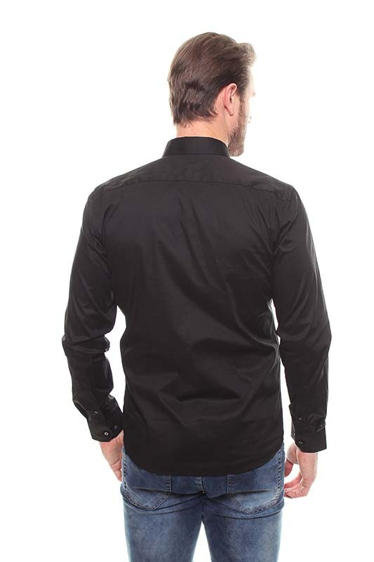 Camisa Fit Masculina Manga Longa - 44640