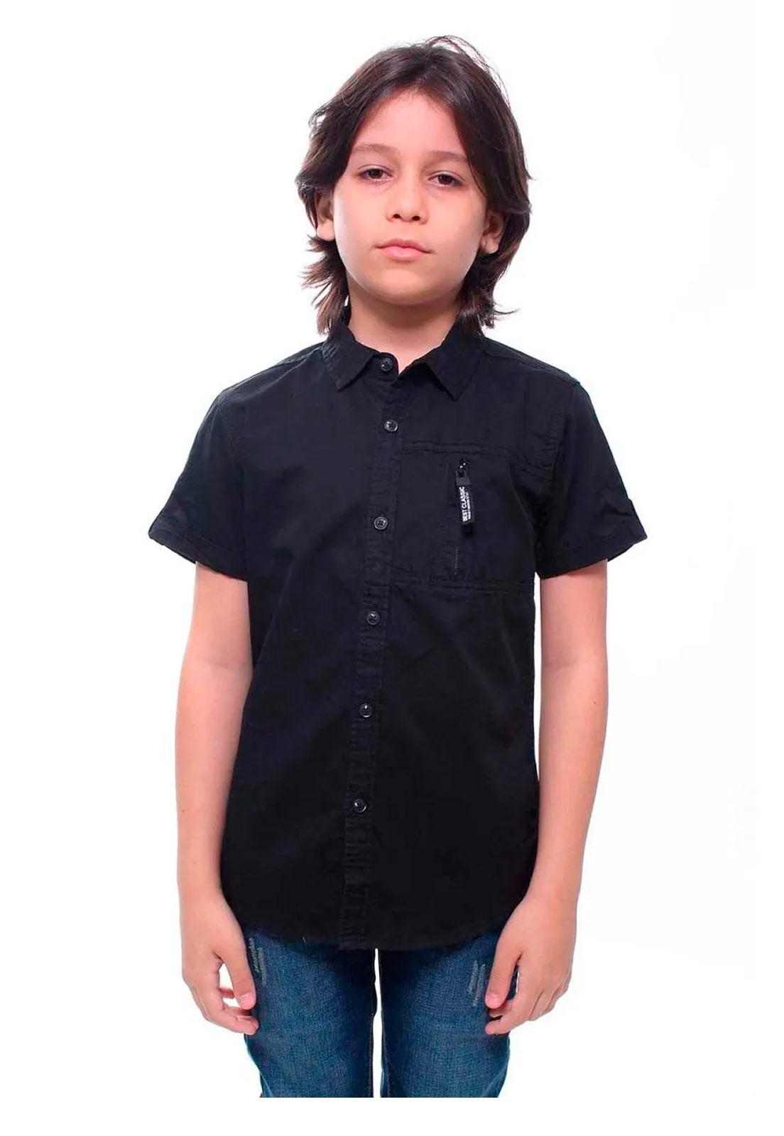 Camisa Juvenil Masculina Manga Curta Crocker - 47224