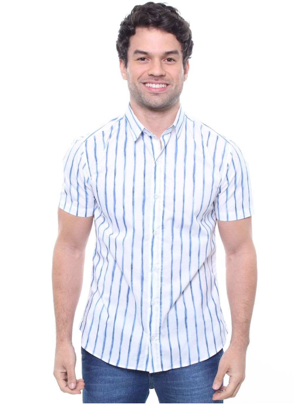 Camisa Estampada Masculina Manga Curta Crocker - 47828