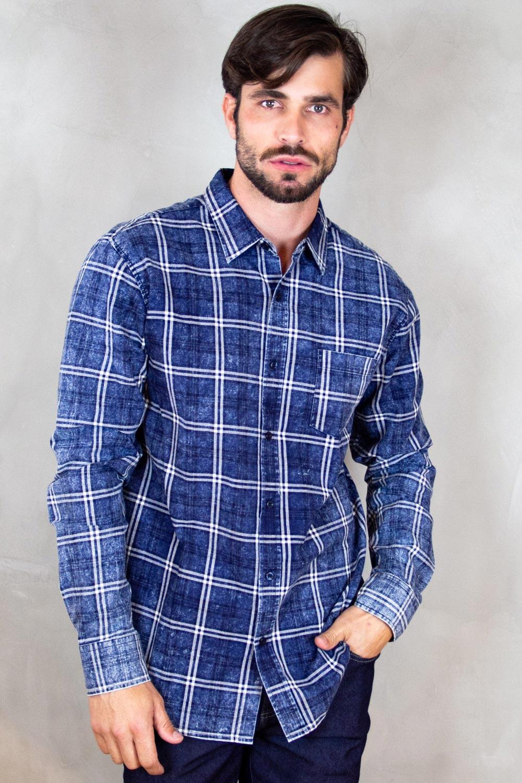 Camisa Masculina Estonada Crocker - 46905  - CROCKER JEANS
