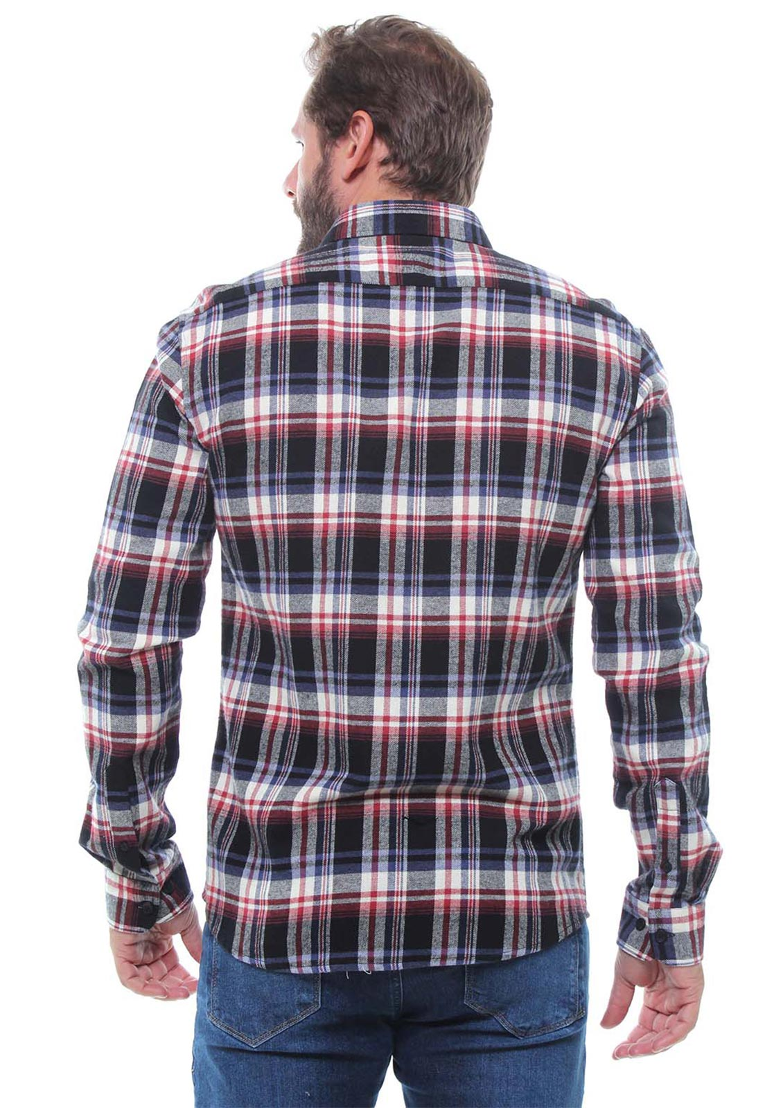 Camisa Xadrez Masculina Flanelada Manga Longa Crocker - 47395  - CROCKER JEANS