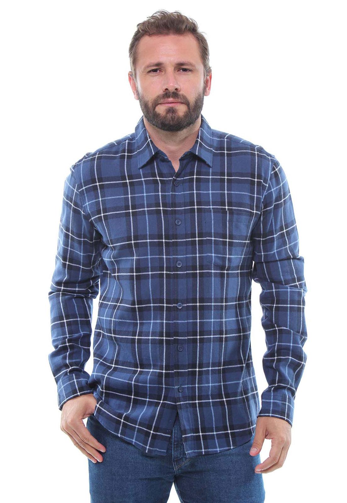 Camisa Xadrez Masculina Flanelada Manga Longa Crocker - 46879  - CROCKER JEANS