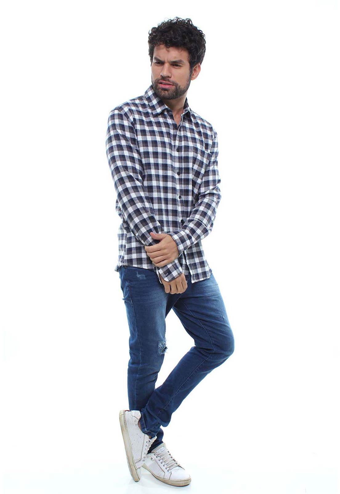 Camisa Masculina Flanelada Manga Longa Xadrez Crocker - 46884  - CROCKER JEANS