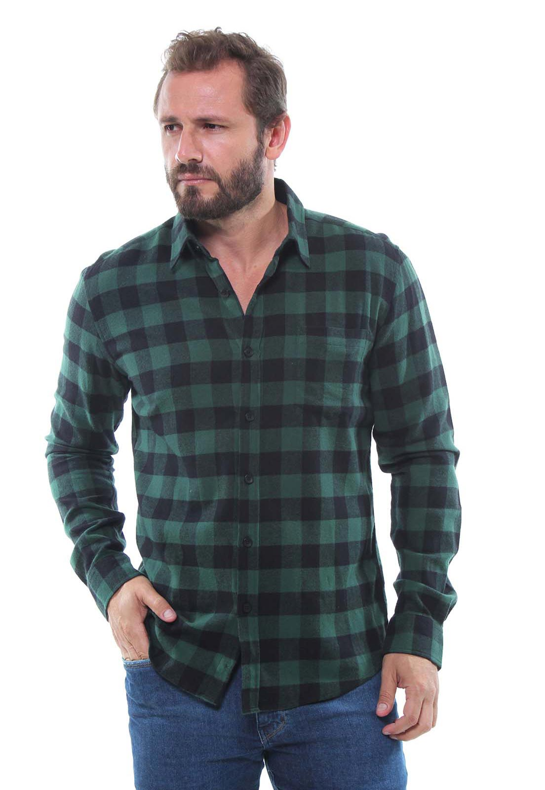 Camisa Masculina Flanelada Manga Longa Xadrez Crocker - 47393  - CROCKER JEANS