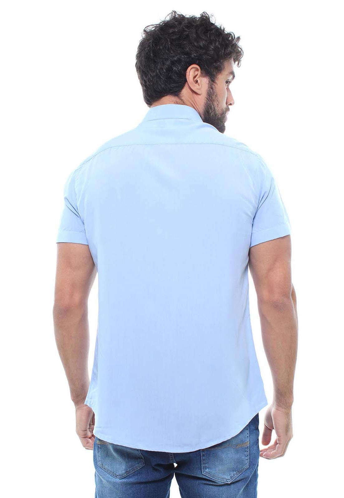 Camisa  Masculina Manga Curta Crocker -  47815  - CROCKER JEANS