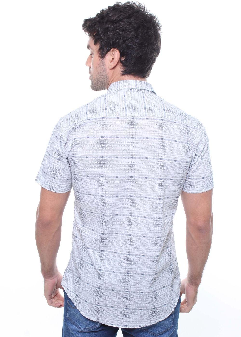Camisa Masculina Manga Curta Estampada Crocker - 47826