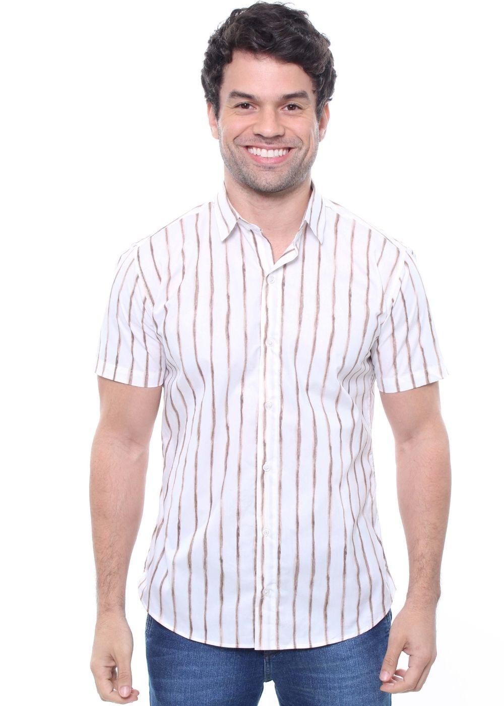 Camisa Estampada Masculina Manga Curta Crocker -  47830