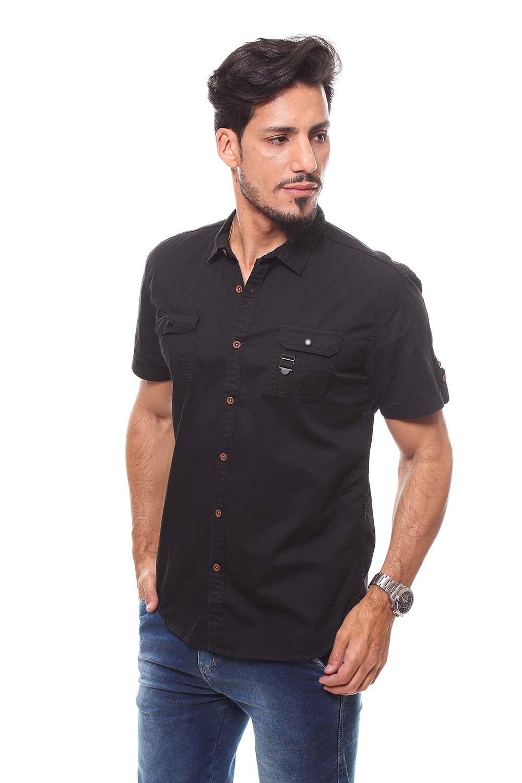 Camisa Masculina Manga Curta Crocker - 47215