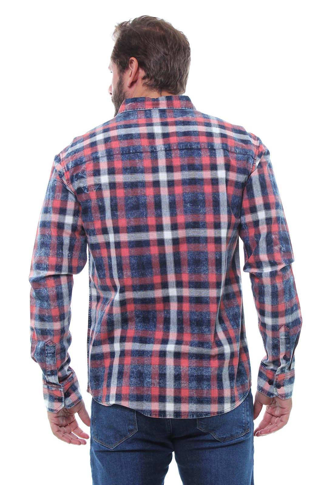 Camisa Masculina Manga Longa Xadrez Estonada Crocker - 46903  - CROCKER JEANS