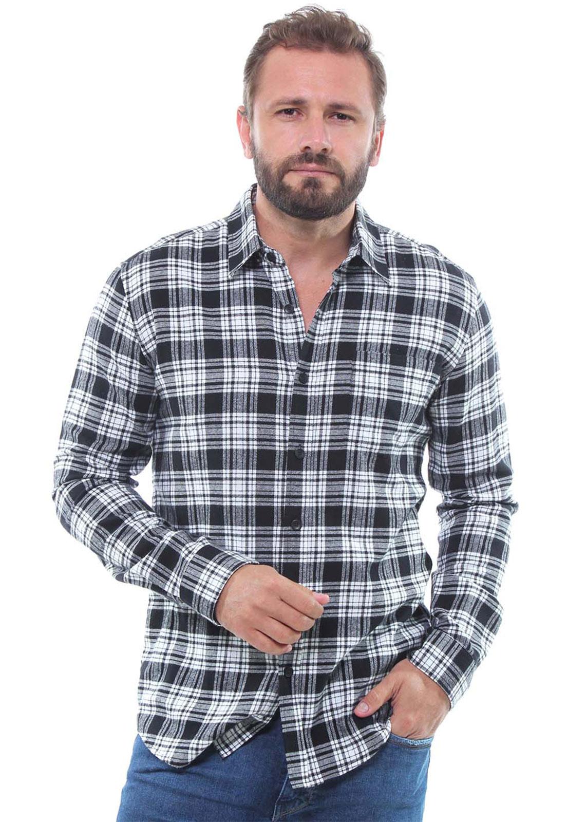 Camisa Masculina Manga Longa Xadrez Estonada Crocker - 47398  - CROCKER JEANS