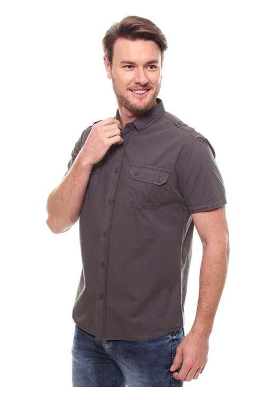 Camisa Masculina Manga Curta Crocker - 47198