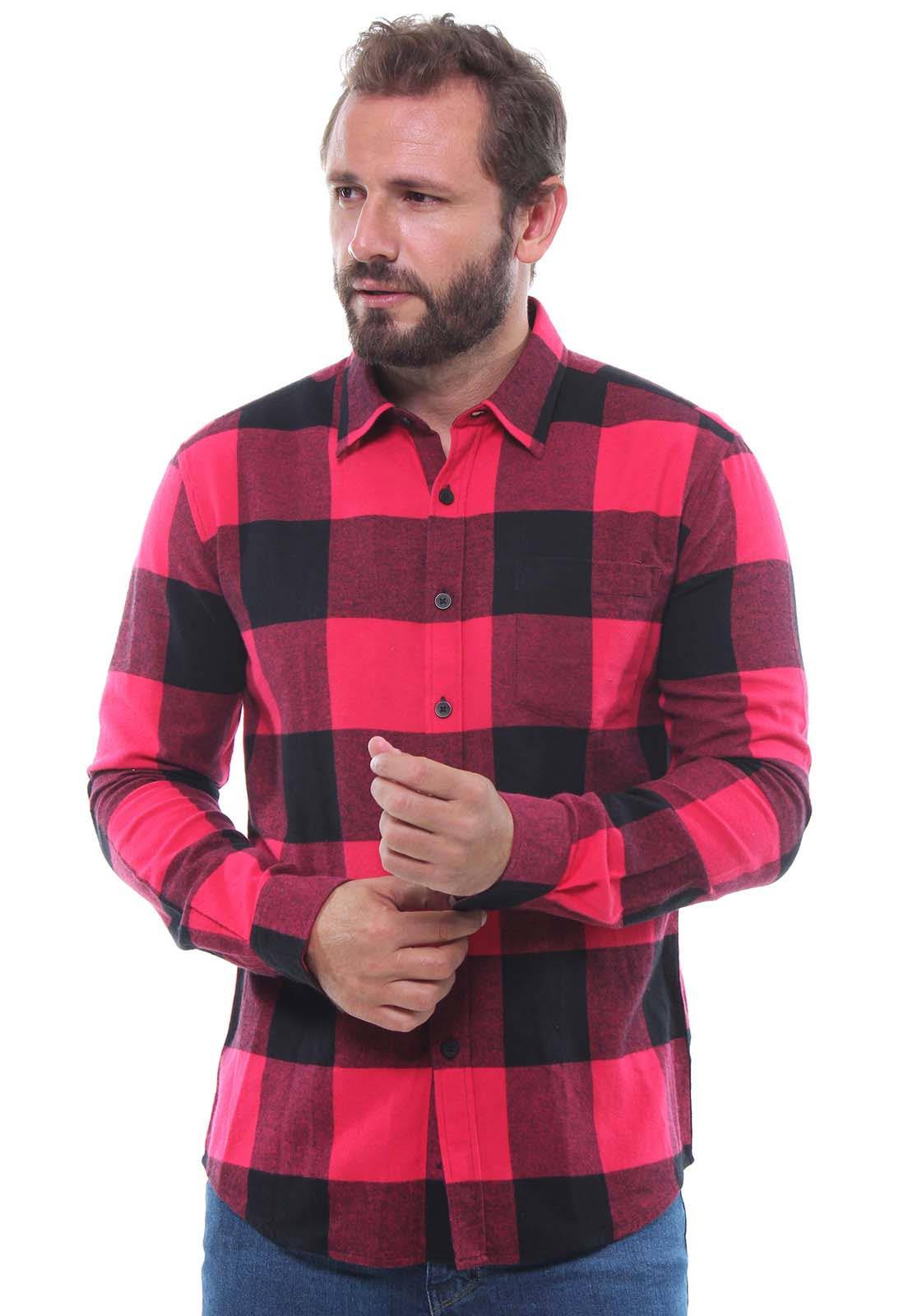 Camisa Xadrez Masculina Flanelada Manga Longa Crocker - 47397  - CROCKER JEANS