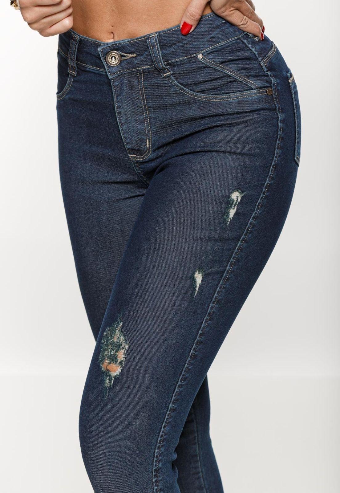 Cigarrete  Jeans Feminina Crocker - 48105  - CROCKER JEANS