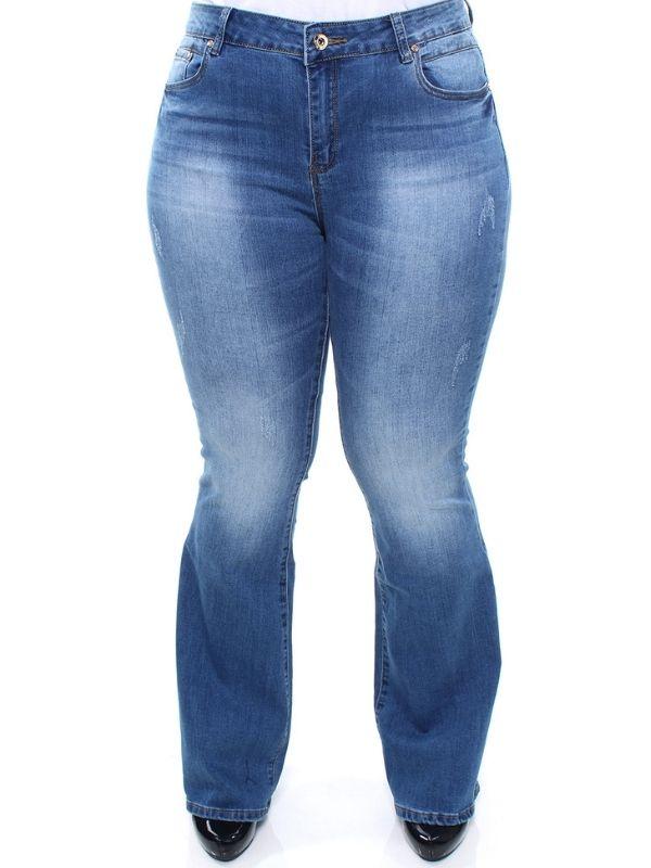 Calça Jeans Plus Size Feminina Flare Crocker - 46682  - CROCKER JEANS