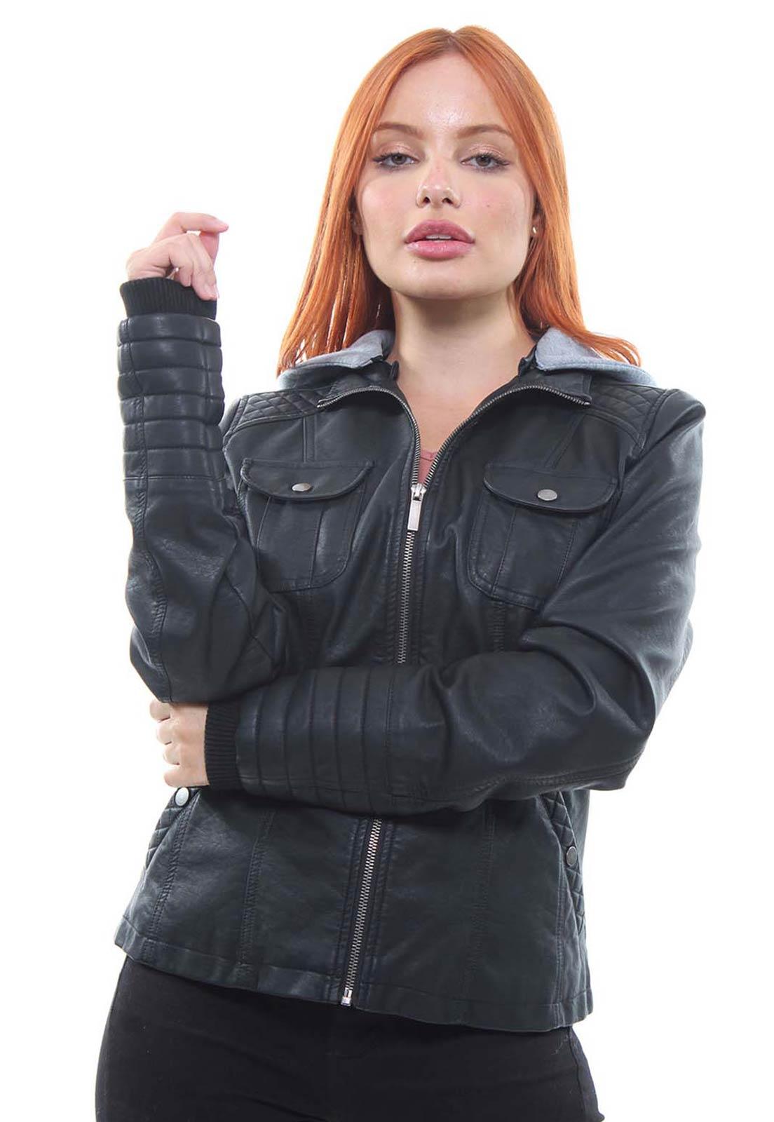 Jaqueta Feminina Com Capuz Crocker - 47439  - CROCKER JEANS