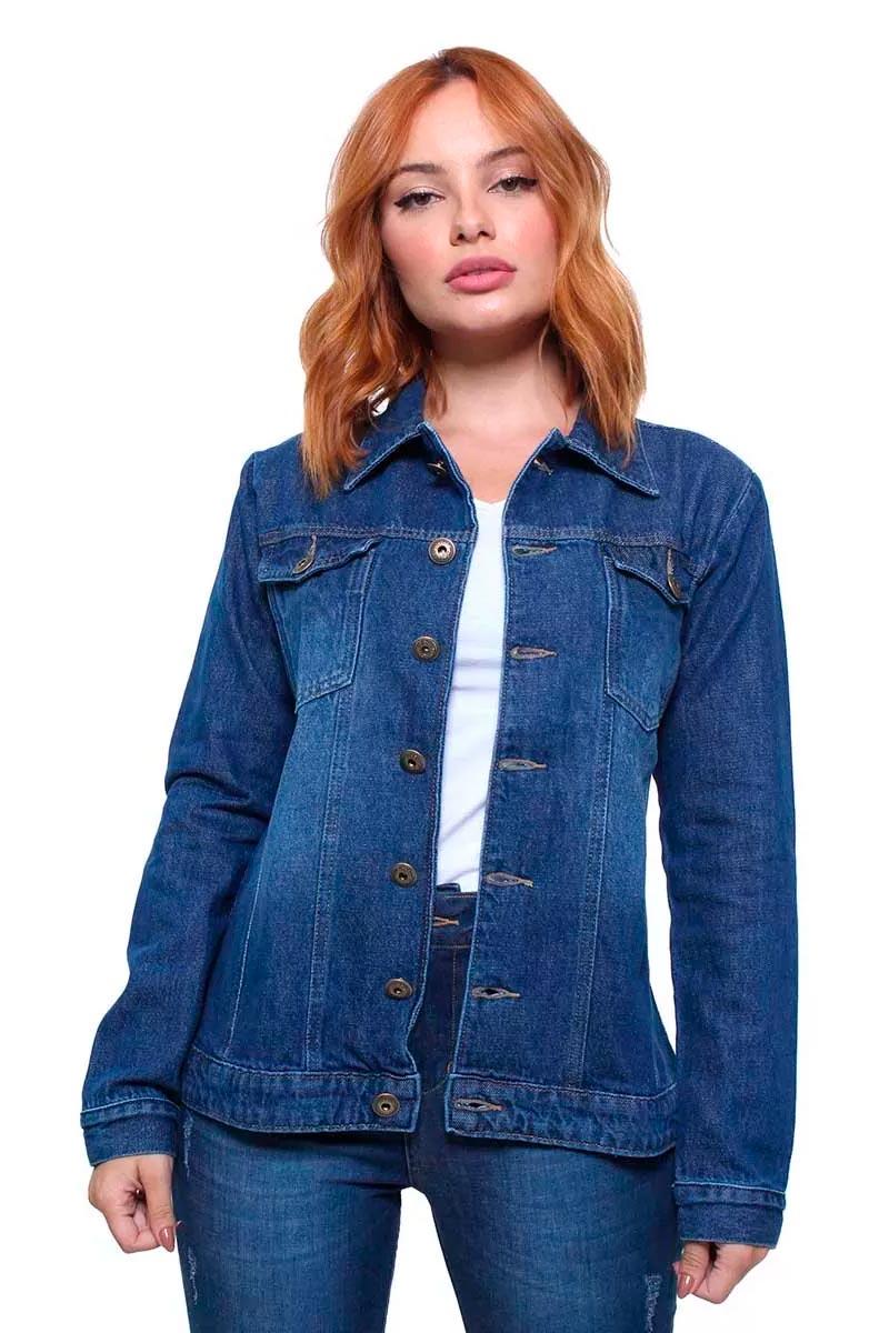 Jaqueta Jeans Feminina Estonada Crocker - 47665