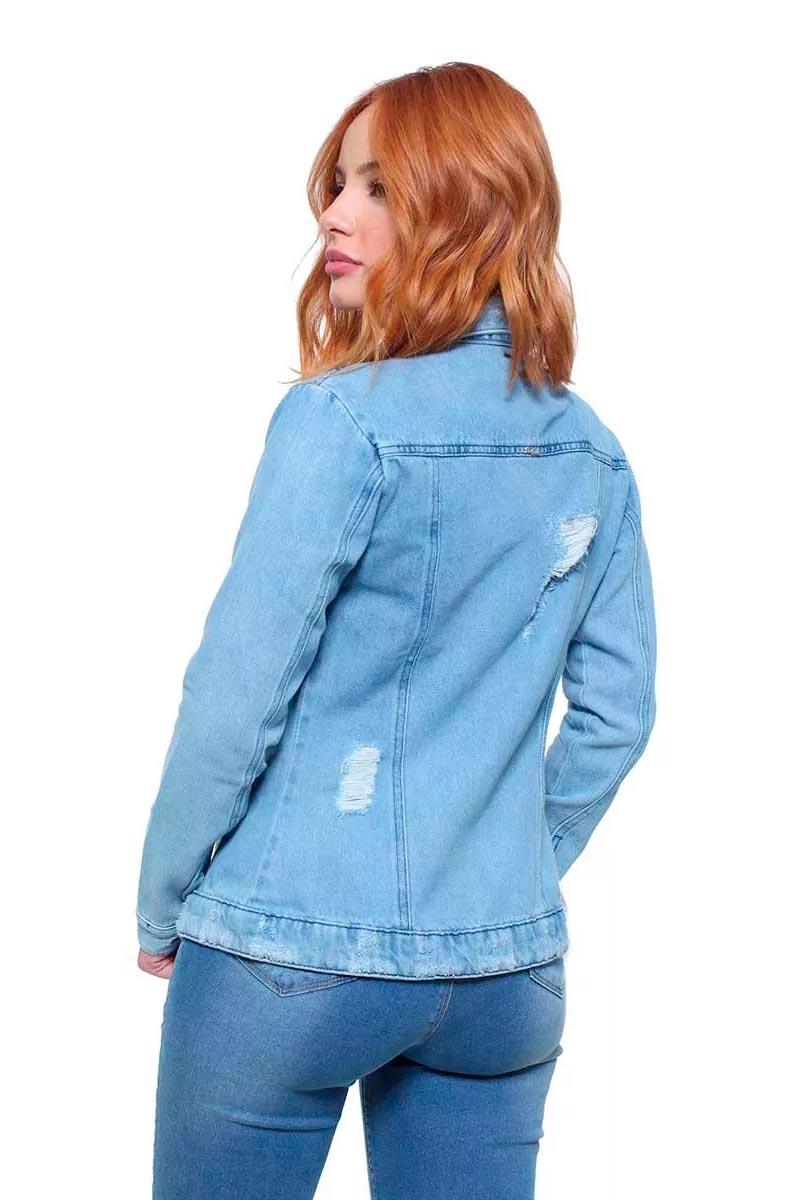 Jaqueta Jeans Feminina Destroyed Crocker - 47664  - CROCKER JEANS