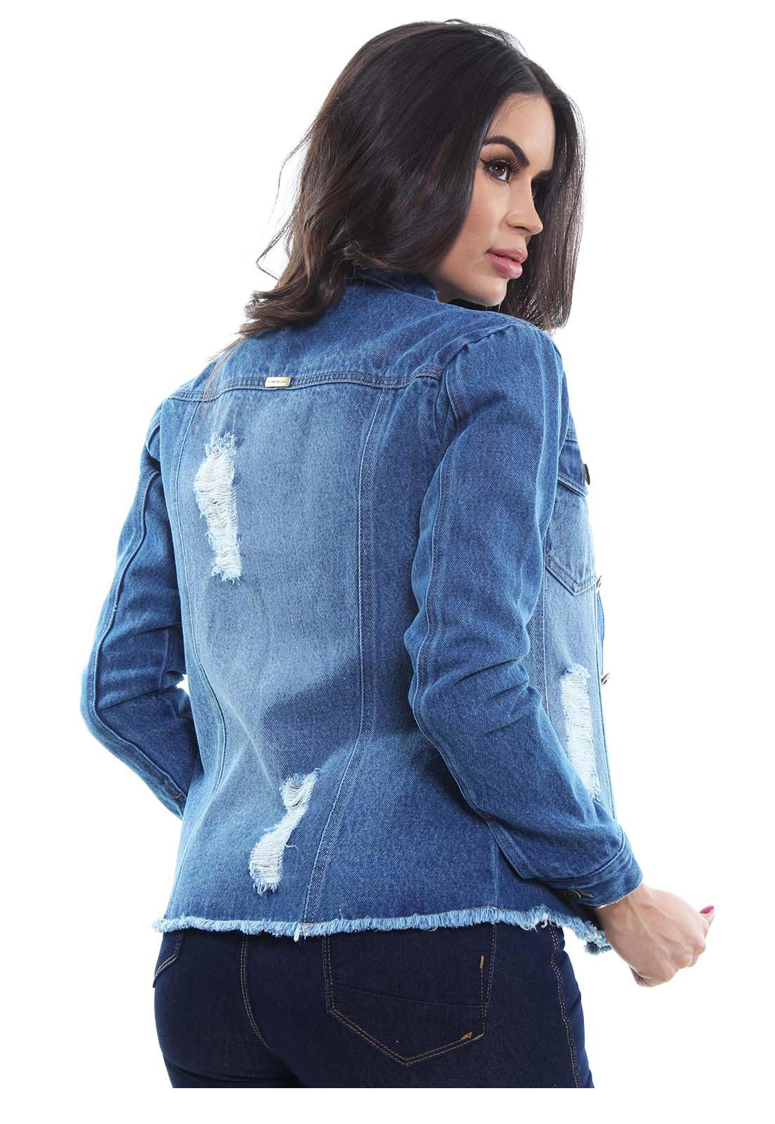Jaqueta Jeans Feminina Crocker - 48058  - CROCKER JEANS