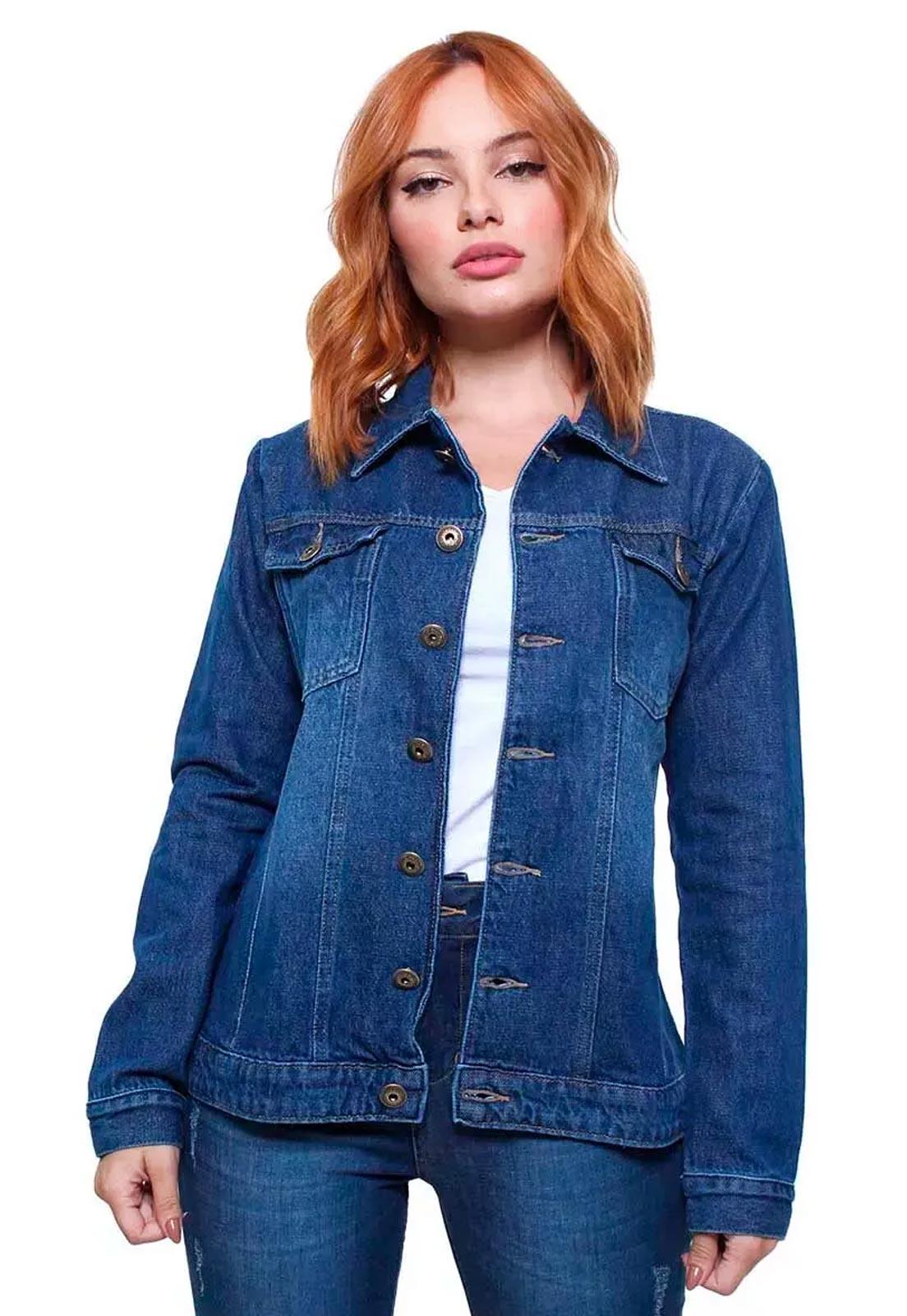 Jaqueta Jeans Feminina Estonada Crocker - 47665  - CROCKER JEANS