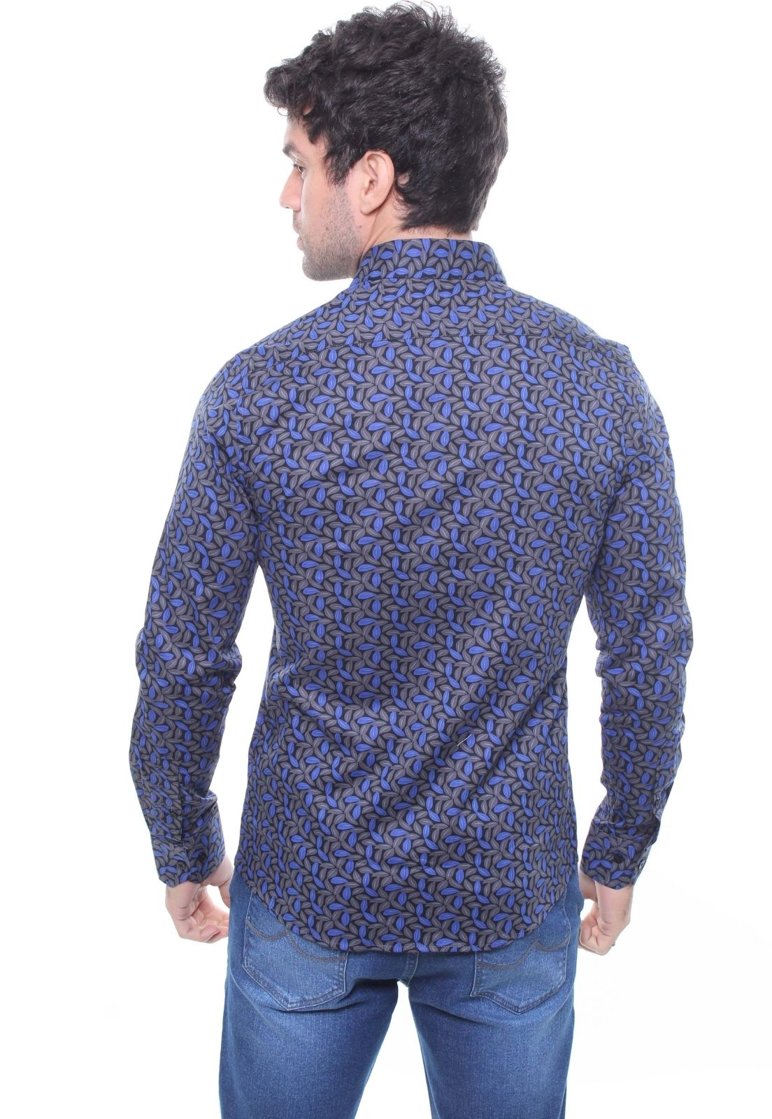 Kit 3 Camisas Masculina Manga Longa Crocker - 47156/47159/47160 Estampas Variadas  - CROCKER JEANS