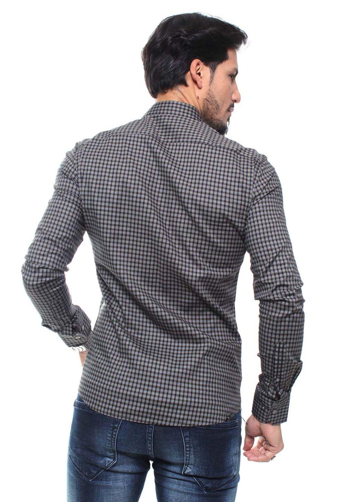 Kit 3 Camisas Masculina Manga Longa Crocker - 47159/47160/47158 Estampas Variadas  - CROCKER JEANS