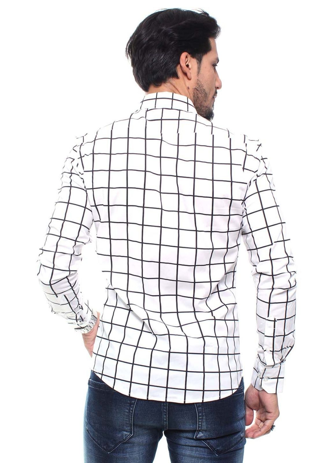 Kit 3 Camisas Masculina Manga Longa Crocker - 47188/47156/47158 Estampas Variadas  - CROCKER JEANS