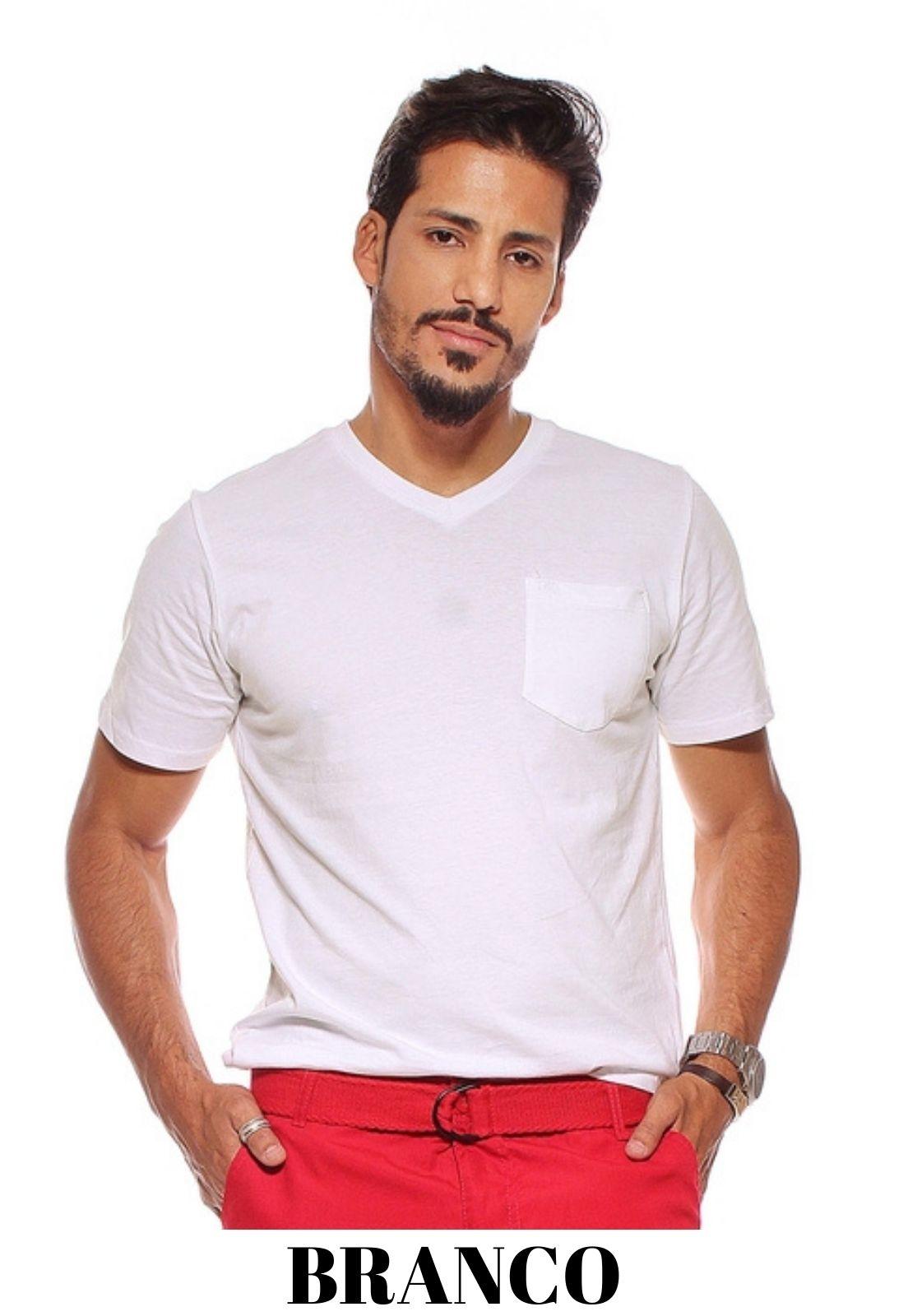 Kit 3 Camiseta Masculina Básica Crocker - 45229 Cores Variadas  - CROCKER JEANS