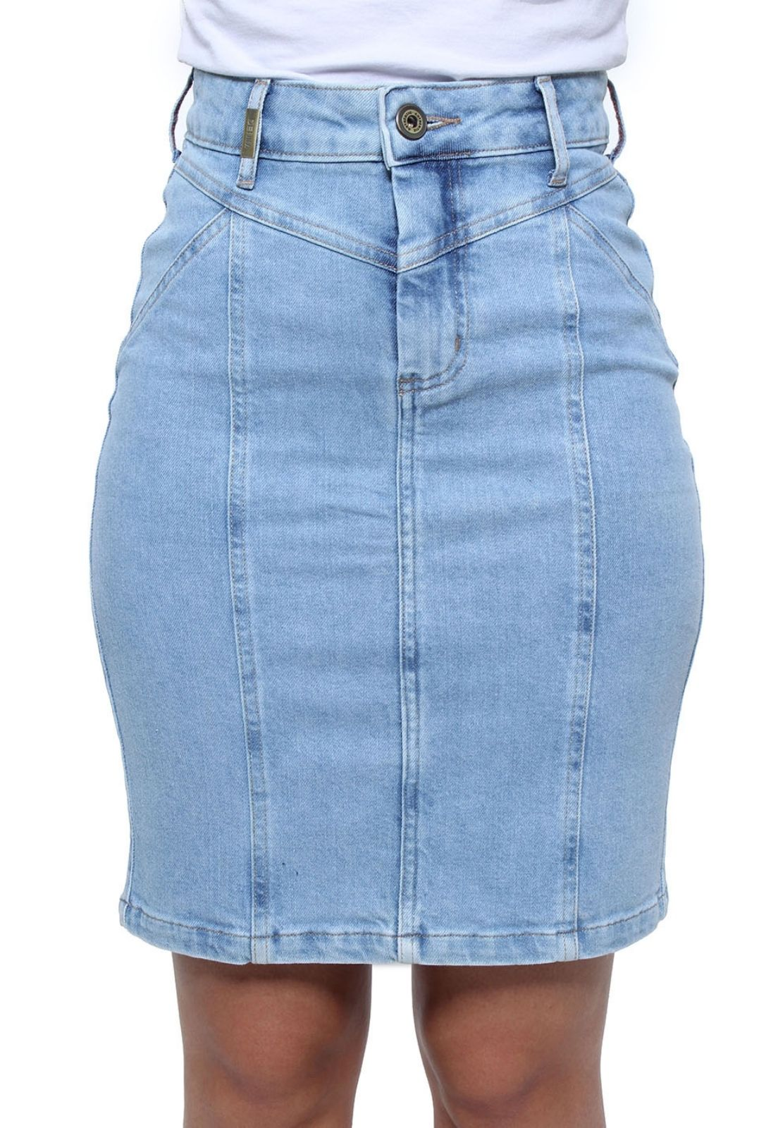 Saia Jeans Cintura Alta Feminina Crocker - 47730  - CROCKER JEANS