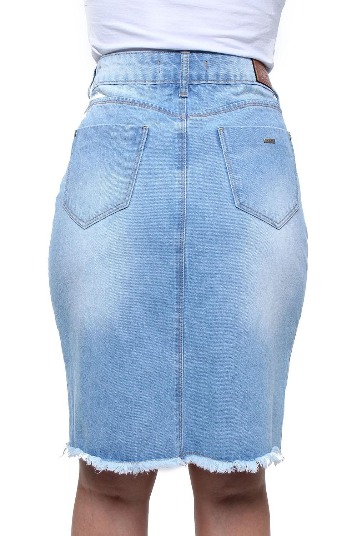 Saia Jeans Cintura Alta Feminina Crocker - 47757  - CROCKER JEANS