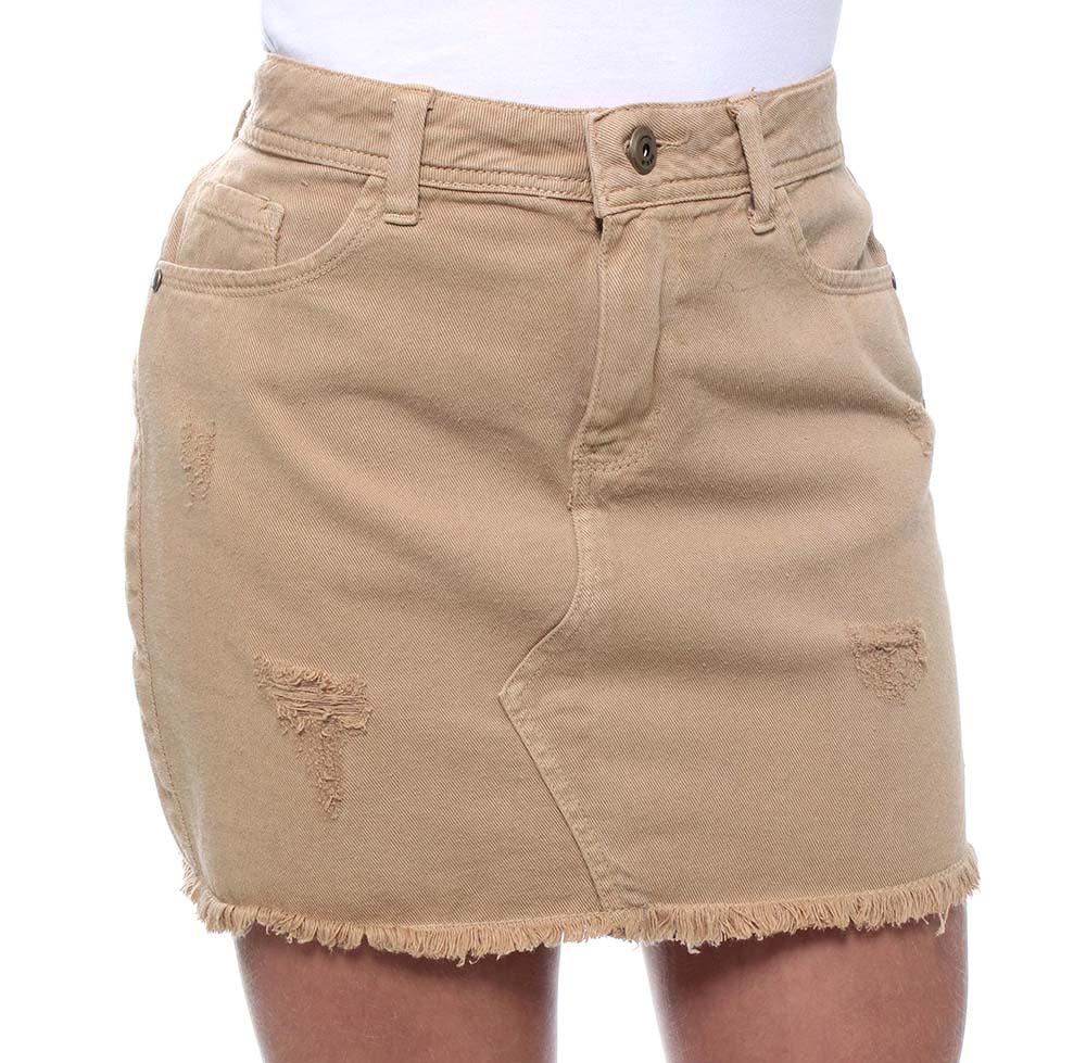 Saia Jeans Curta Feminina Colors Crocker - 47614  - CROCKER JEANS