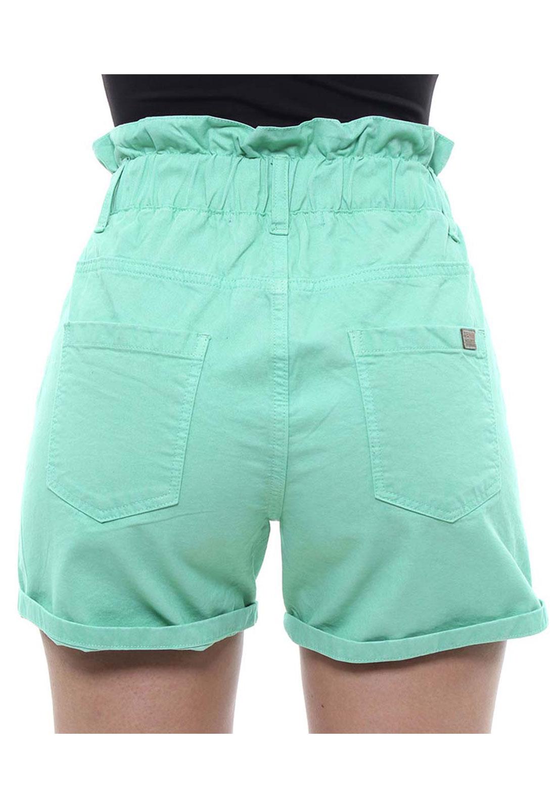 Short Feminino Hot Pant e Barra Dobrada Color Crocker - 47785