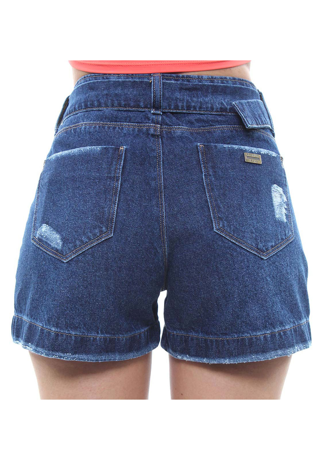 Short Jeans Feminino Curto Assimétrico Crocker - 47922  - CROCKER JEANS