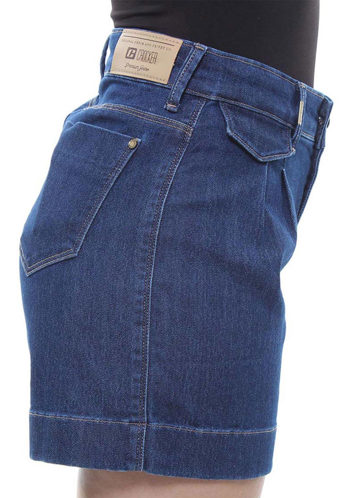 Short Jeans Feminino Curto Assimétrico Crocker - 47924  - CROCKER JEANS