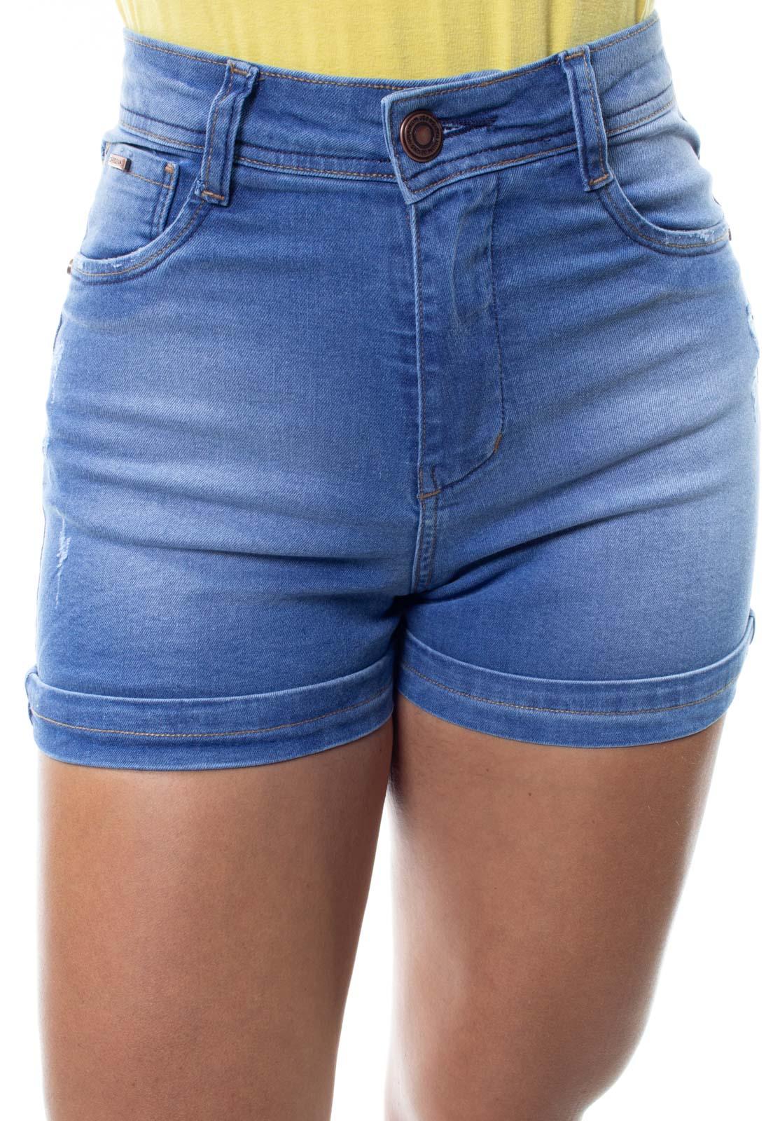 Shorts Jeans Feminino Curto  Barra Dobrada Crocker - 48296  - CROCKER JEANS