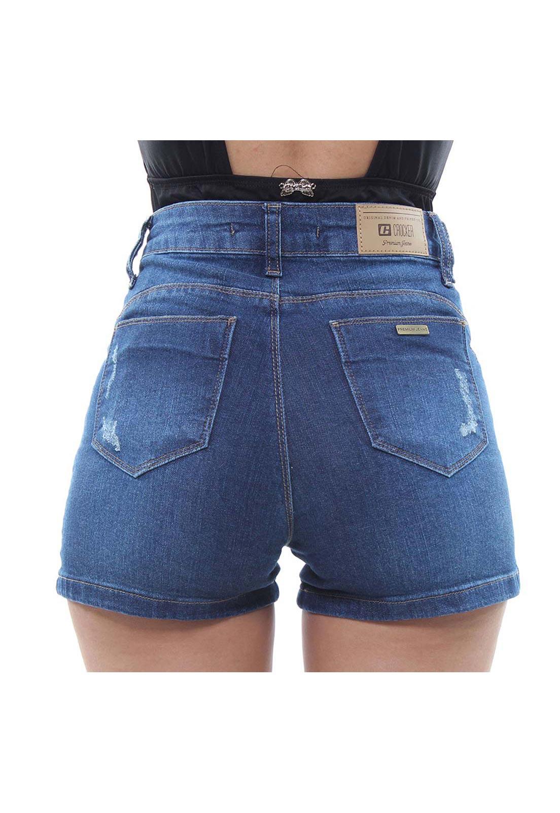 Short Jeans Feminino Curto Destroyed Fit Crocker - 47919  - CROCKER JEANS