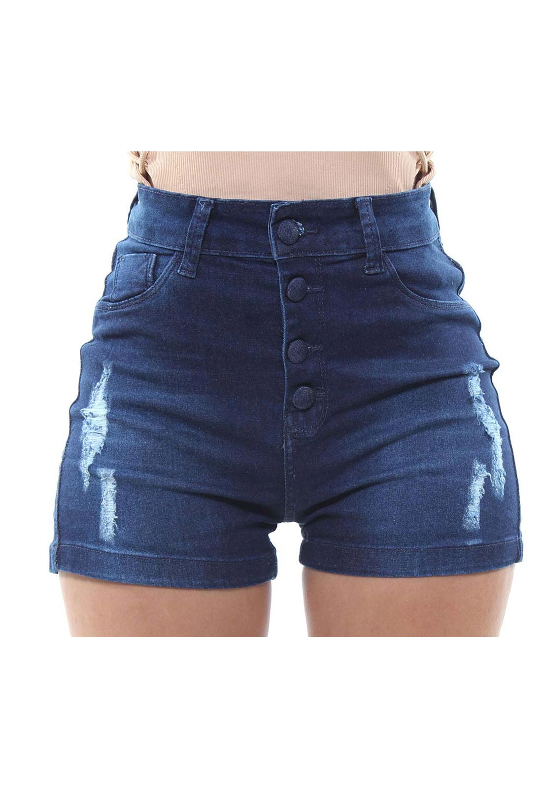Short Jeans Feminino Curto Destroyed Fit Crocker - 47977  - CROCKER JEANS