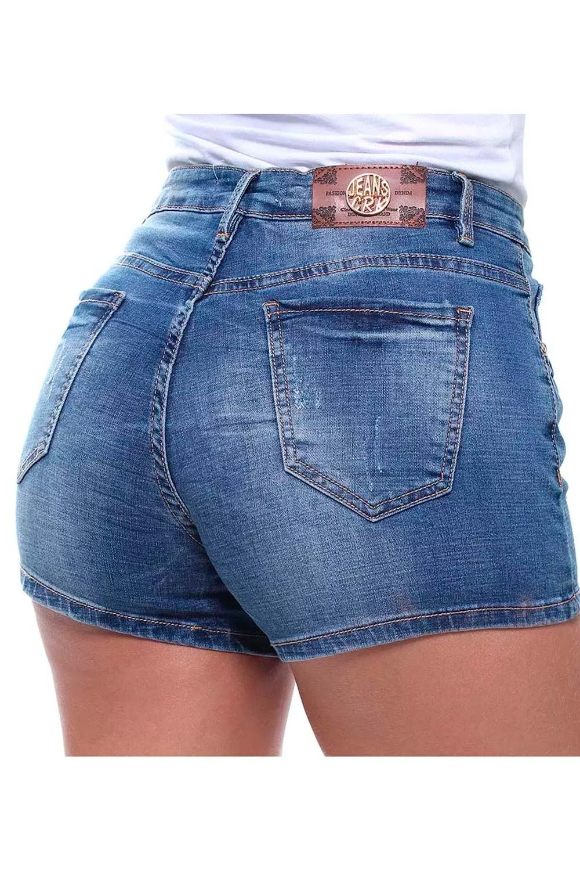 Short Jeans Feminino Curto Estonado Slim Crocker - 46471