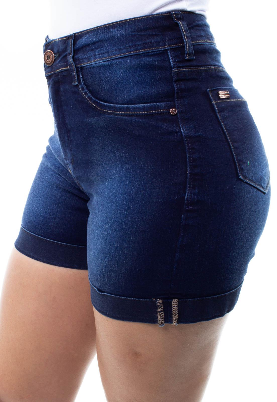 Shorts Jeans Feminino Barra Virada Crocker - 48295  - CROCKER JEANS