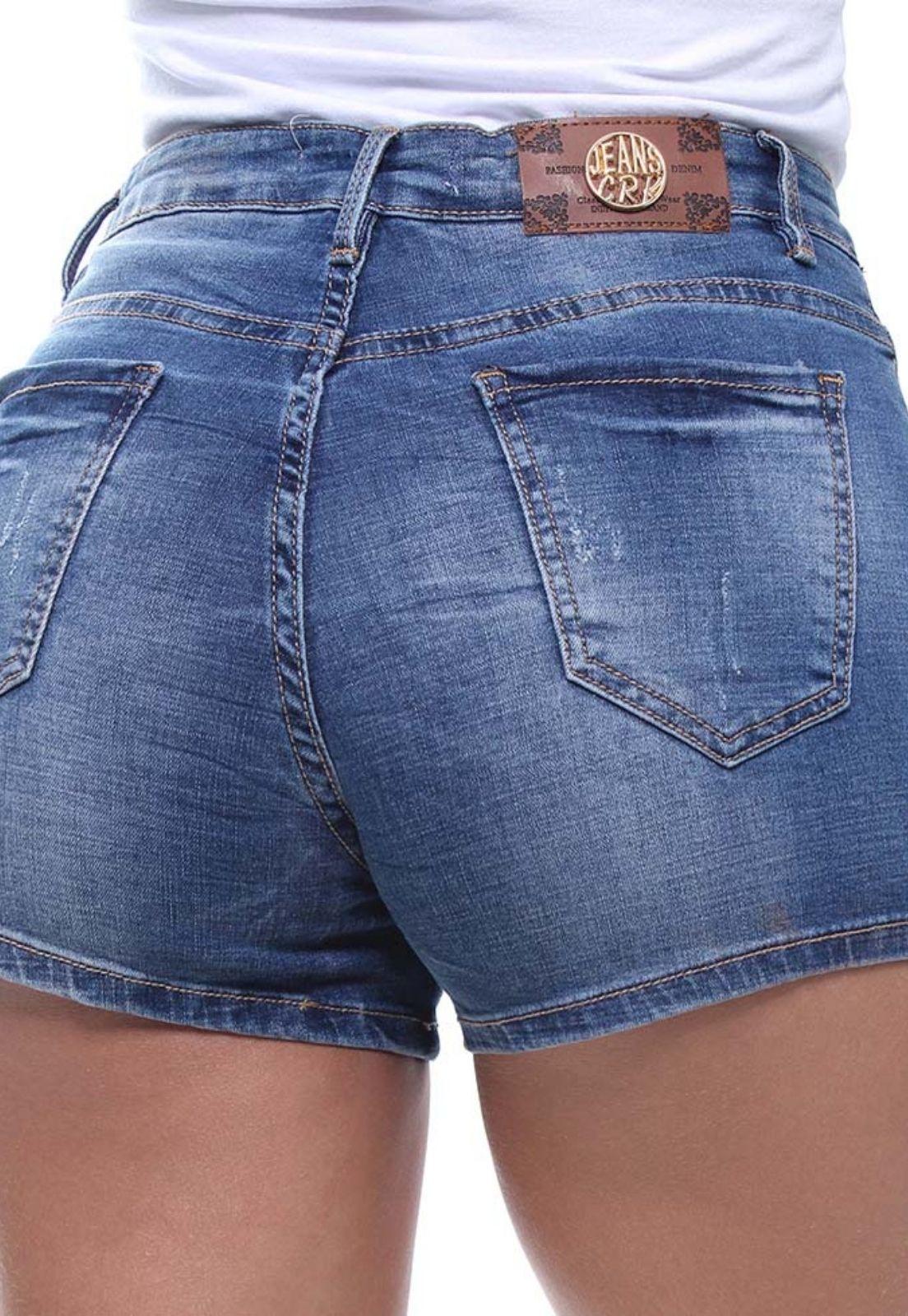 Shorts Jeans Feminino Slim Médio Crocker - 46471  - CROCKER JEANS