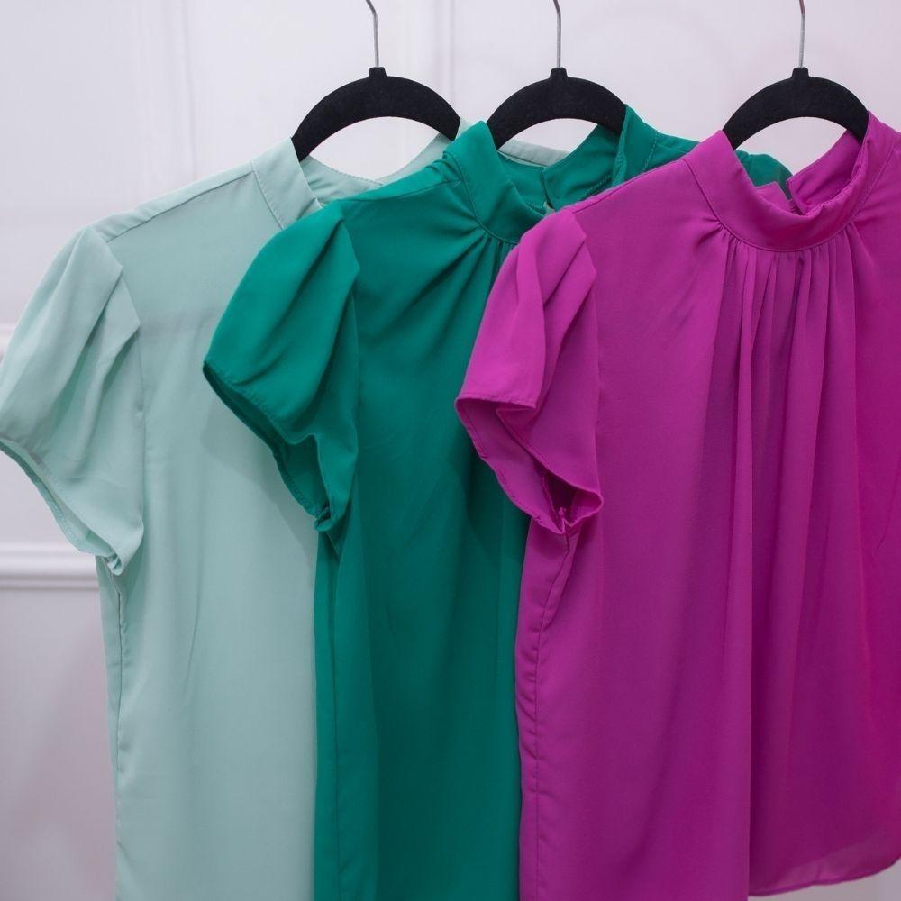 Blusa Feminina social em crepe fresquinha