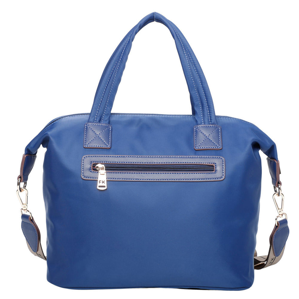 Bolsa Baú Feminina Nylon Casual Azul