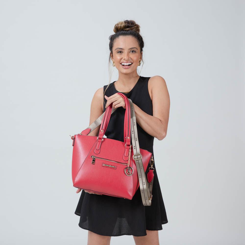 BOLSA FEMININA SACOLA MÉDIA C/ DETALHES