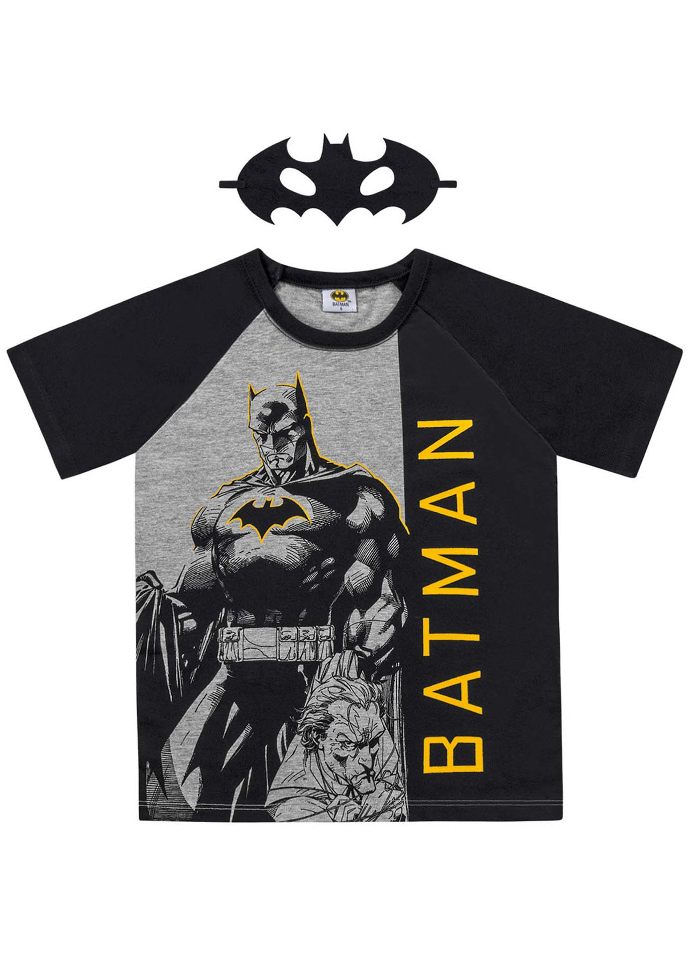 CAMISETA C/MASCARA BATMAN
