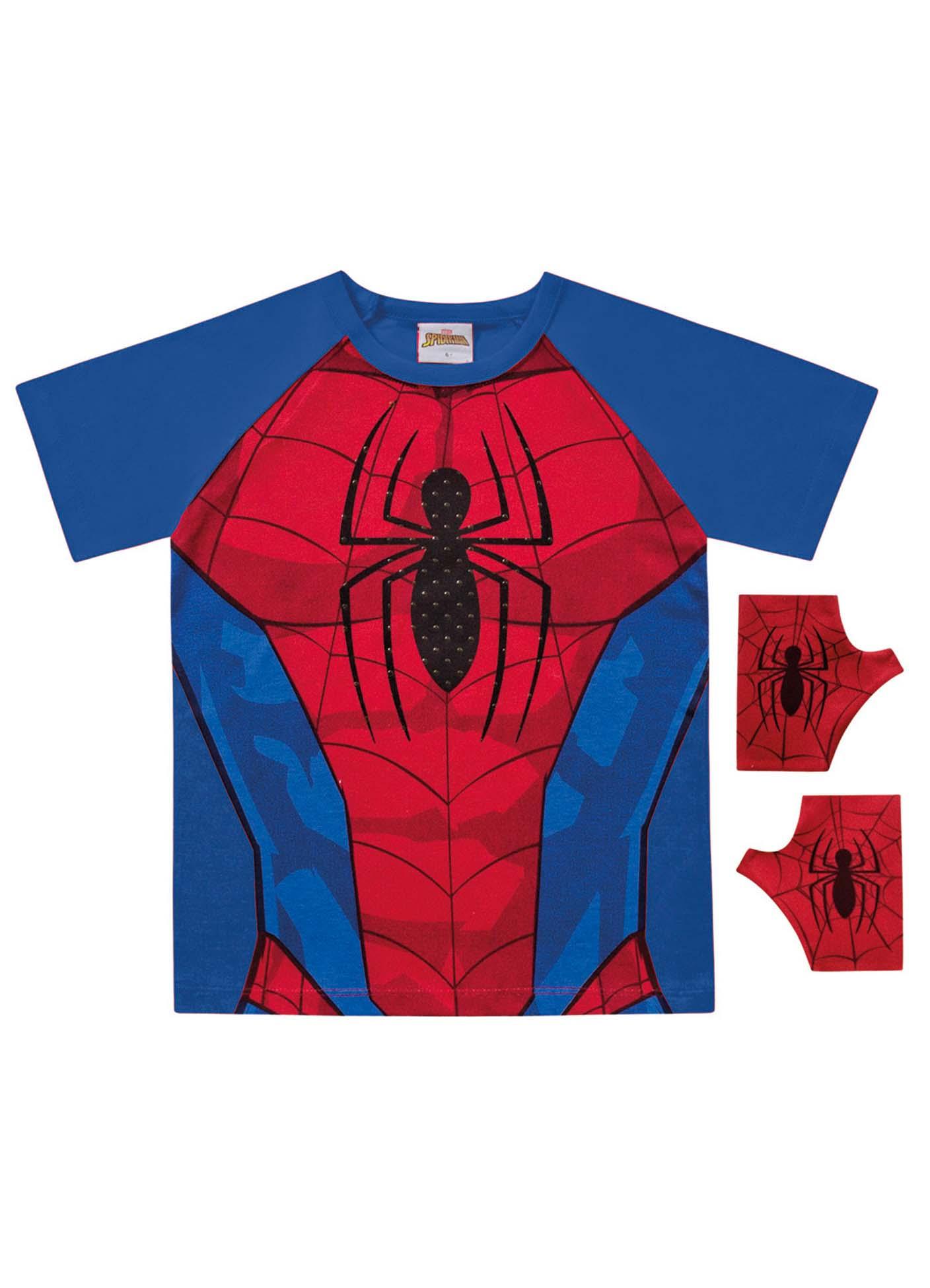 CAMISETA SPIDER-MAN C/LUVA