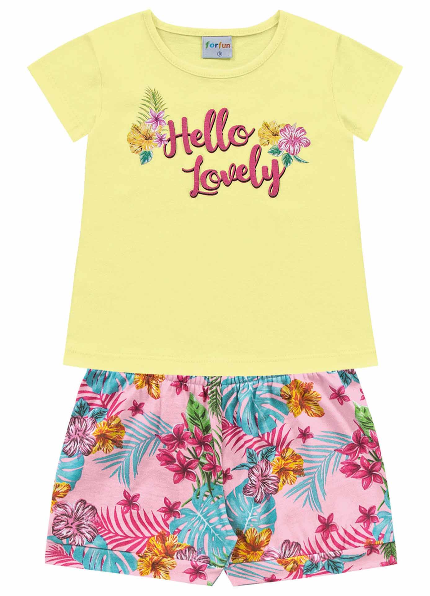 CONJUNTO BLUSA/SHORT HELLO LOVELY